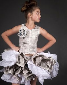 love this paper dress by Dani Brubaker