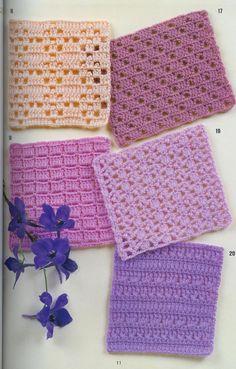 crochet home: Crochet stitches Crochet Motifs, Crochet Stitches Patterns, Crochet Squares, Crochet Chart, Crochet Granny, Stitch Patterns, Knitting Patterns, Crochet Books, Crochet Home