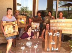 Crafty Chicks~ Pallet wood signs