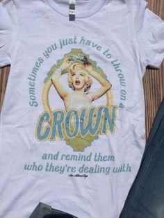 Marilyn Monroe Throw on a Crown Tee (S-XL) – Texas Two Boutique