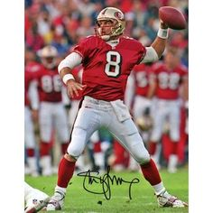 970ad4ff3ff Autographed San Francisco 49ers Steve Young Fanatics Authentic 8