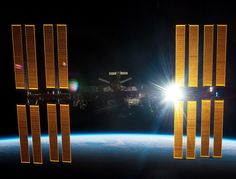 The TDRS satellites help NASA stay in touch with the International Space Station. Hubble Space Telescope, Space And Astronomy, Nasa Space Station, Dna Research, Space Debris, Mission Control, International Space Station, Across The Universe, Dark Matter