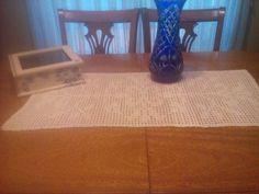 Caja de té y carpeta al crochet