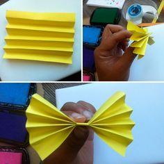 DIY paper accordion bow