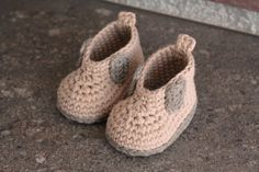 Crochet Pattern for Baby Boys Crochet Boots by Inventorium on Etsy