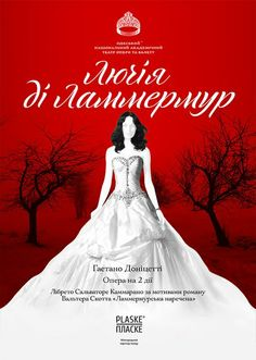 Poster for the opera Lucia di Lammermoor