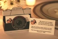 Photo cards for wedding - remind guests to download digital photos to a special flickr account