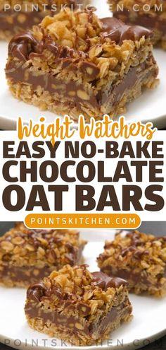 Easy No-Bake Chocolate Oat Bars #chocolate #oat #bars #nobake #easy #weightwatchers #weight_watchers #ketogenic #lowcarb #slimmingworld