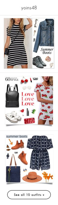 """""""yoins48"""" by nastenkakot ❤ liked on Polyvore featuring outfit, chic, fab, yoins, tarte, yoinscollection, loveyoins, Linda Farrow, Aspinal of London and Casetify"""