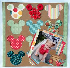 #papercraft #scrapbook #layout. Snack Time featuring DCWV My Sunshine Stack