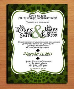 Mad Hatter / Alice in Wonderland Modern Wedding Invitation PRINTABLE / DIY