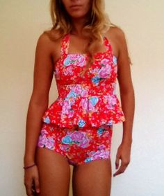Poppy Peplum – Beverly Swimwear...Two piece available now!