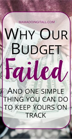 Why our budget failed, and how you can avoid making the same mistake. Ways To Save Money, Money Tips, How To Make Money, Money Hacks, Budgeting Finances, Budgeting Tips, Living On A Budget, Frugal Living, Tracking Expenses