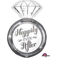 Balloon:  27'' Happily Ever After Ring Supershape Balloon Foil Balloon (each) (inflated price £7.99)