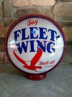 Rare Original Fleet-Wing Gas Globe