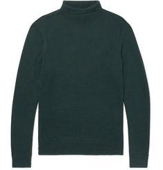 Dundee Merino Wool Rollneck Sweater In Emerald Joey Tribbiani, Roll Neck Sweater, Dundee, Apc, Merino Wool, Designer Menswear, Men's Knitwear, Turtle Neck, Mens Fashion