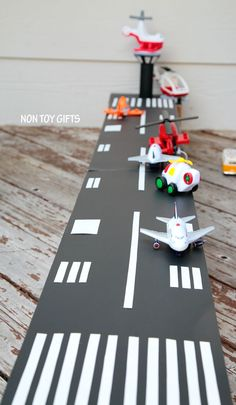 DIY cardboard airport toy to make for kids.