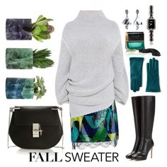 """""""FALL SWEATER #2"""" by anastassiyan ❤ liked on Polyvore featuring Lanvin, Lands' End, STELLA McCARTNEY, Oscar de la Renta, Jimmy Choo, Chloé and Marc Jacobs"""