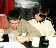 """1994 [x]"""" Liam Gallagher Noel Gallagher, Oasis Music, Alan White, The Face Magazine, Oasis Band, Liam And Noel, Building An Empire, Britpop, Nikki Sixx"""
