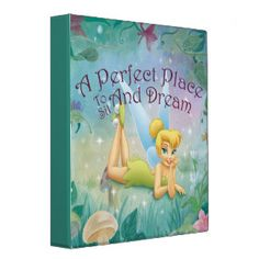 Tinker Bell Laying Down Binder