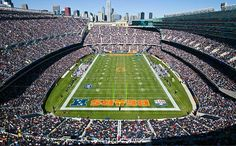 Chicago Bears Football Stadium.  Chicago, Illinois