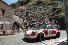"1972 Targa Florio, # 31 Porsche 911 S, driven by ""Gedenhem"" / Pochet, DNF with gearbox issues on lap 3."