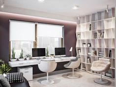contemporary fresh home office