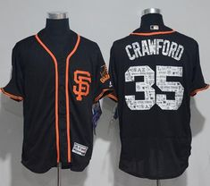 Giants #35 Brandon Crawford Black 2017 Spring Training Authentic Flex Base Stitched MLB Jersey