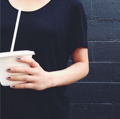 Quick smoothie run in our t-shirt 1012 and these cool digits. #oakandfort http://www.oakandfort.com/t-shirt-1012.html