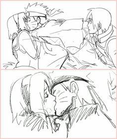 Sakura y naruto ❤ Naruto And Sasuke, Naruto Uzumaki, Anime Naruto, Naruhina, Naruto E Sakura, Naruto Comic, Naruto Cute, Naruto Funny, Sakura Haruno