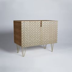 Buy Credenza with Tiny Polka Dots designed by Allyson Johnson. One of many amazing home décor accessories items available at Deny Designs. Hand Painted Furniture, Home Decor Accessories, Credenza, Crates, Home Goods, Furniture Design, Polka Dots, Surface, House Design