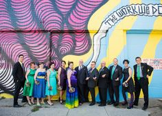 Laura & David's color-filled art gallery wedding, Buffalo, NY, as seen on @Offbeat Bride
