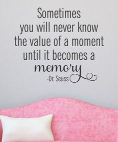 This 'Value of a Moment' Wall Quotes Decal is perfect! #zulilyfinds