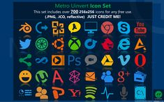Metro Uinvert Dock Icon Set - 725 Icons by on DeviantArt Screen Icon, Greek Language, Icon Set, Logo Branding, Icon Design, Microsoft Office, Interesting Stuff, Screens, Free