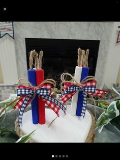 Fourth Of July Decor, 4th Of July Decorations, July 4th, 4th Of July Wreath, Holiday Decorations, Holiday Ideas, July Crafts, Patriotic Crafts, Wood Bead Garland