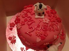 Pink doggy chocolate cake Celebration Cakes, Chocolate Cake, Birthdays, Birthday Cake, Desserts, Christmas, Pink, Food, Shower Cakes