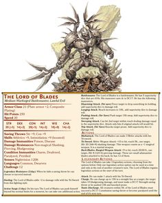 My Lord of Blades boss for the Eberron campaign I'm making - Imgur