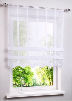 Clipstore with a modern look - white, perforated strip - - Farmhouse Curtains, Home Curtains, Kitchen Curtains, Window Coverings, Window Treatments, Steel Stair Railing, Ideas Habitaciones, Rideaux Design, Best Kitchen Lighting