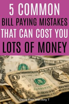 Don't waste money by avoiding these common bill paying mistakes. Tips to pay your bills on time, what companies are often thinking, and how to make sure you do not get into any trouble. Best Money Saving Tips, Money Saving Meals, Ways To Save Money, Money Tips, Money Savers, Financial Peace, Financial Tips, Financial Planning, Meal Planning