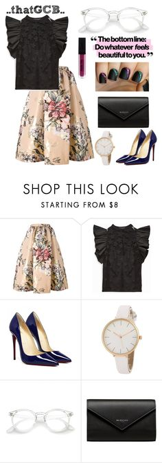 """..RUFFLED SLEEVE blouse, FLORAL skirt.."" by thatgcb ❤ liked on Polyvore featuring Fendi and Balenciaga"