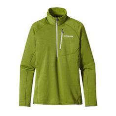 Patagonia Women\'s R1\u00AE Fleece Pullover - Supply Green SPYG