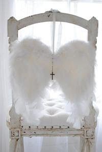 Chair with Angel Wings...Christmas