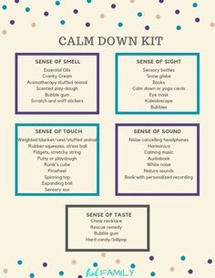 Learn how to make a calm down kit for emotional regulation in kids. Great for kids with autism, aspergers, ADHD, anxiety and other special needs. Calming Activities, Therapy Activities, Anxiety Activities, Health Activities, Coping Skills, Social Skills, Social Work, Calm Down Kit, How To Calm Down
