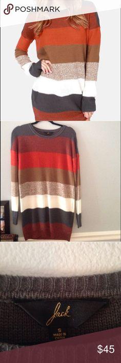 Striped sweater dress Jack by B.B. Dakota sweater dress. Excellent condition. Jack by BB Dakota Dresses Long Sleeve