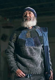 Kapital 2015 Fall/Winter Collection: Renown for its signature style of heavy layers and mix of denim, Kapital is back with its 2015 Moda Vintage, Boro, Mode Style, Winter Collection, Refashion, Pulls, Work Wear, Indigo, Knitwear