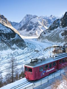 Chamonix-Mont-Blanc, French Alps, Haute Savoie, France  I rode this train in April of 2012!