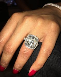 Giant Wedding Ring | 425 Best Jewelry Of The Rich And Famous Engagement Rings Necklaces