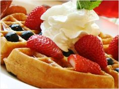 Classic Belgian Waffles Recipe at Tweed & Hickory - WONDERFUL!