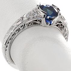 filigree sapphire rings - Google Search