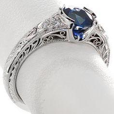filigree sapphire rings